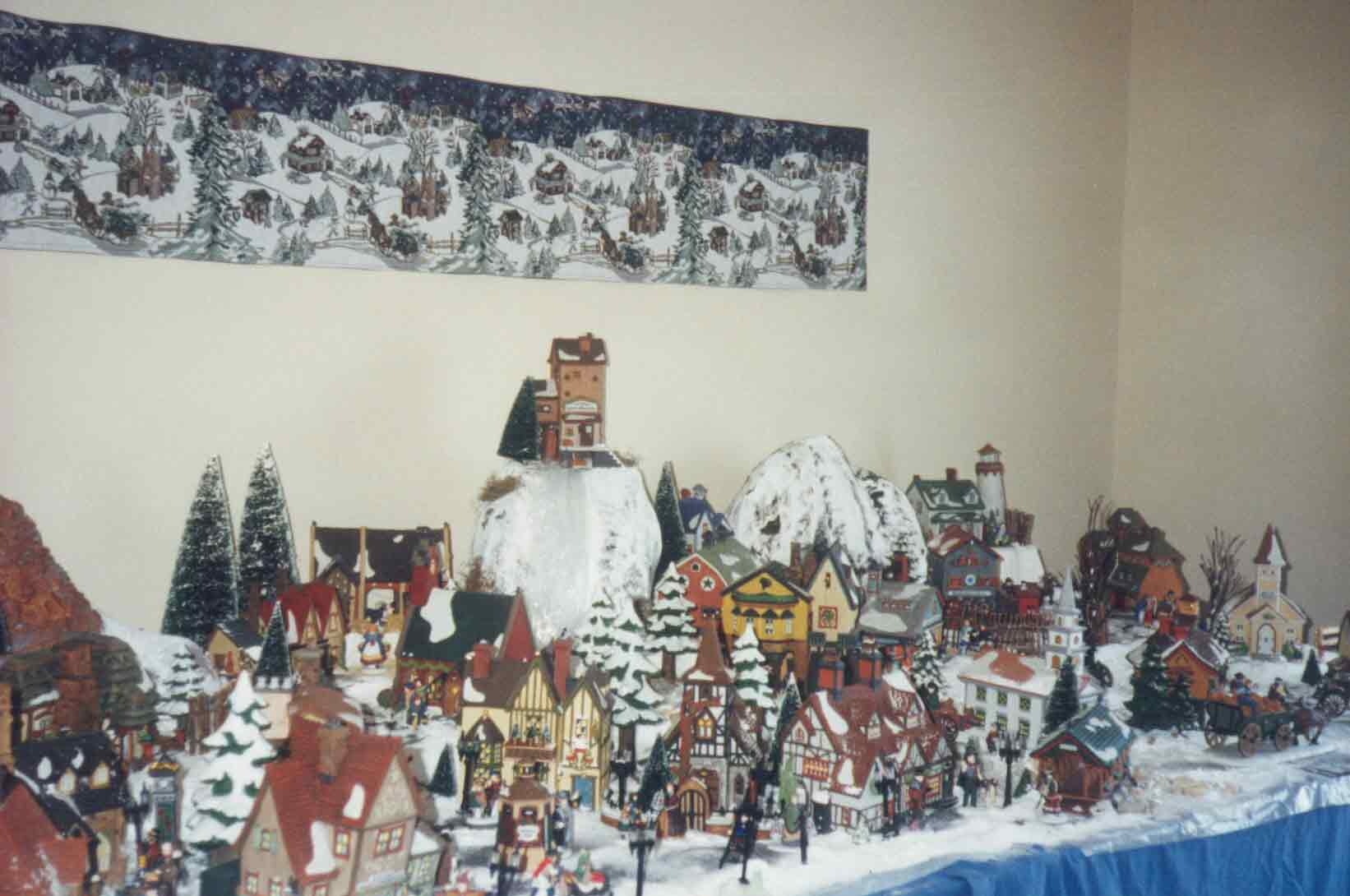 A distant view of the Dept 56 display