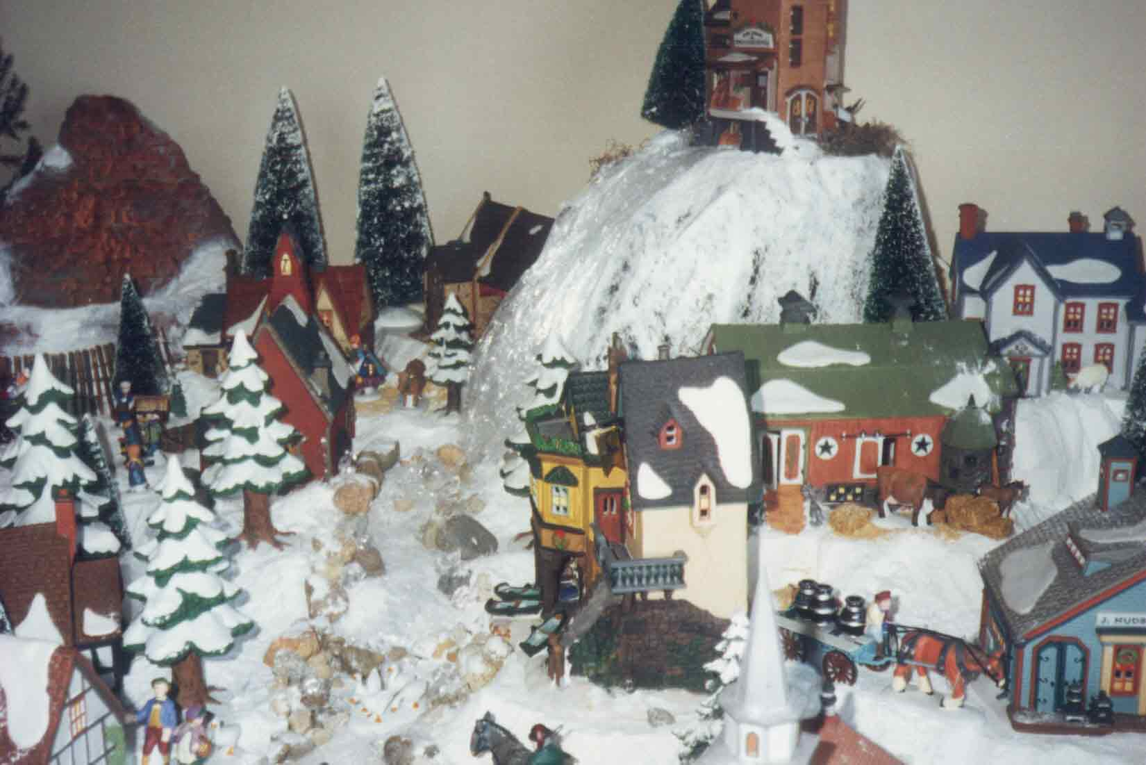 Dept 56 Display Tips - icy brook and falls
