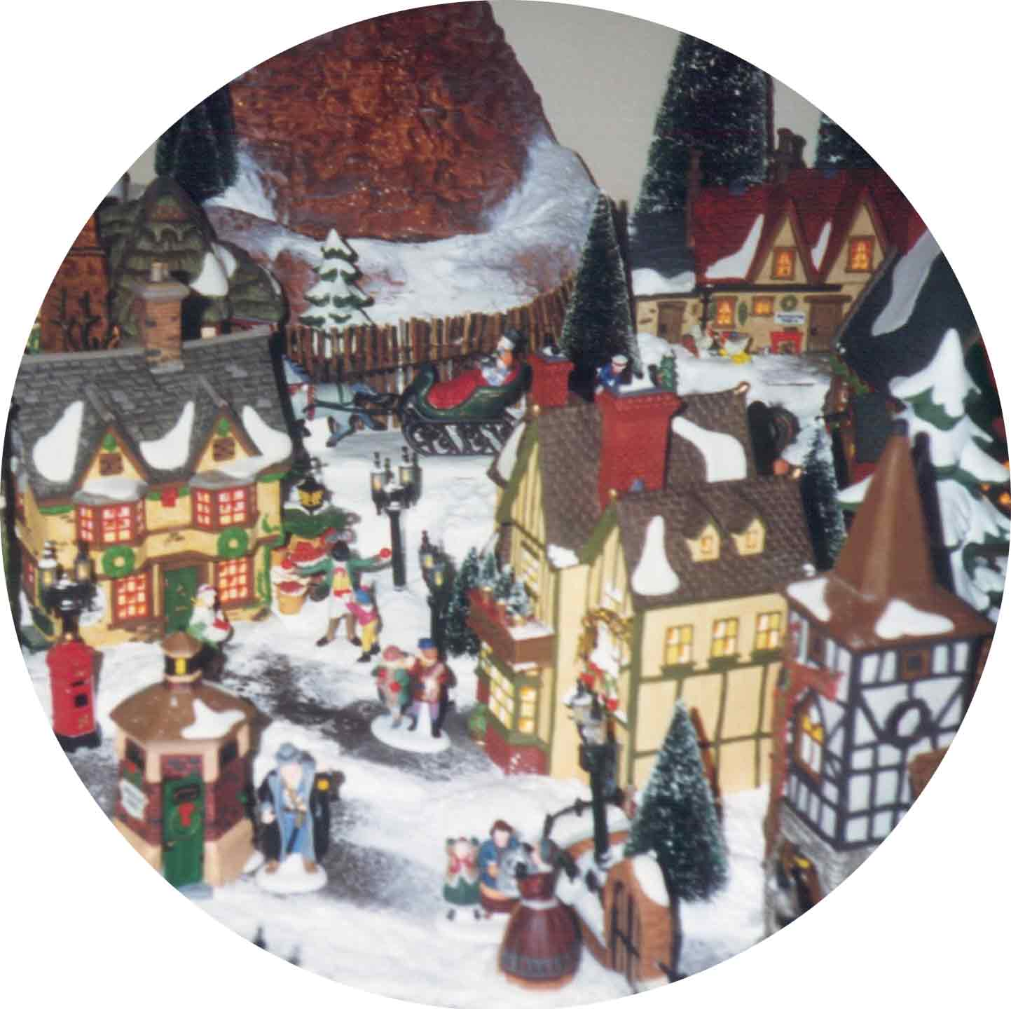 Dept 56 display tips - wintery gathering